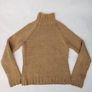 J. Crew Caramel Chunky Knit Sweater Size M